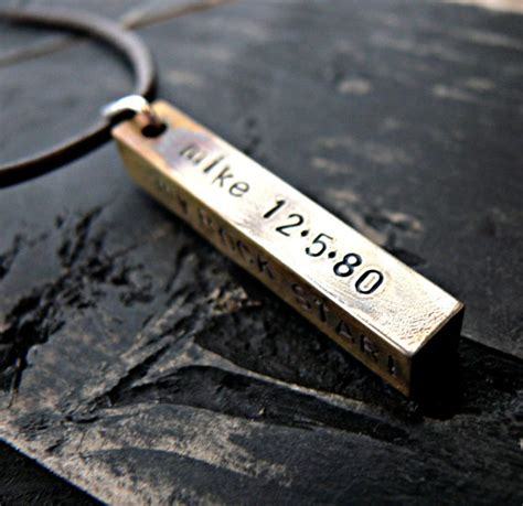 personalized mens necklace personalized fathers gifts mans
