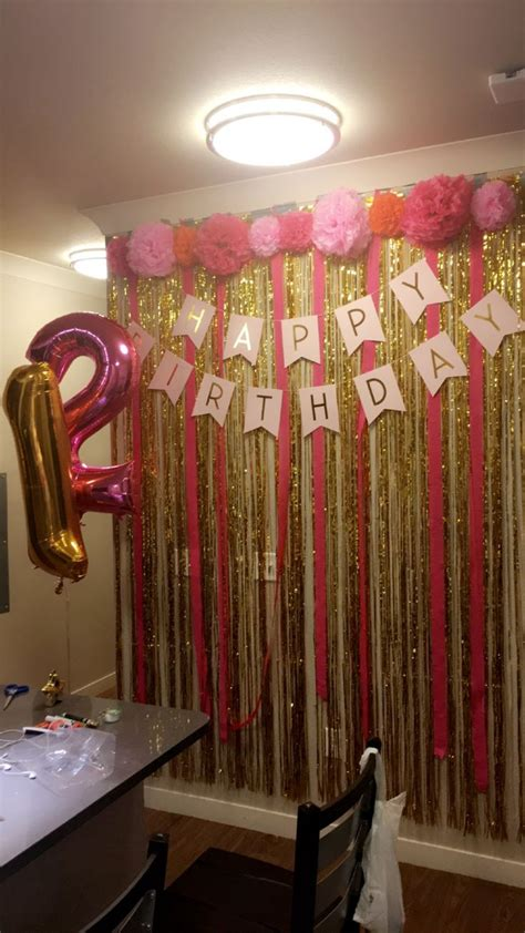 home party decoration ideas with exemplary perfect birthday party 21st birthday wall all bought entirely on amazon