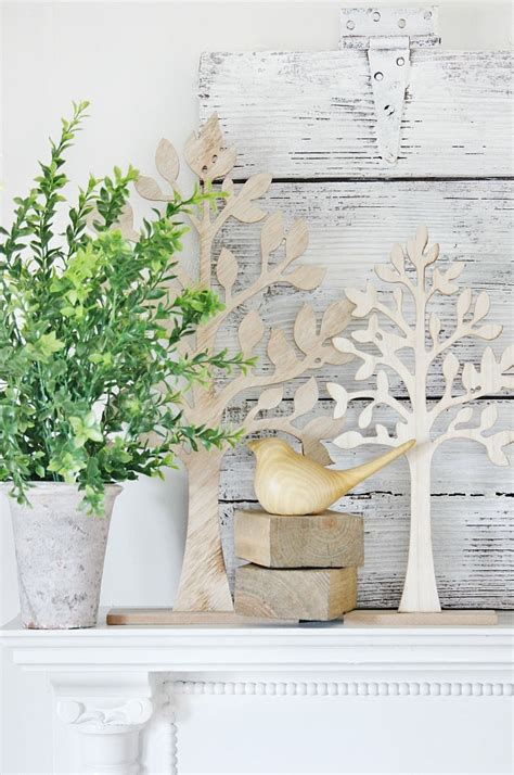 Simple Giveaway Ideas - easy spring mantel decorating ideas and a giveaway thistlewood farm