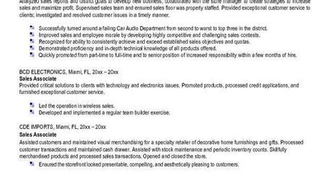 resume sles 2014 sle resume for sales associate at retail 985 http