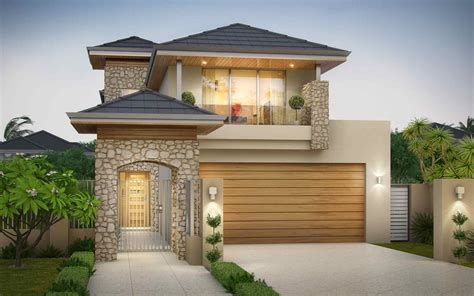 Amazing Double Storey Home To Fit Narrow Lots House Design For Small Lot Area In The Philippines