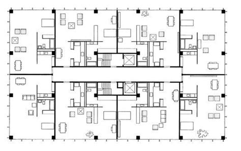 mies van der rohe floor plan 860 880 lake shore drive apartments chicago 1950 mies