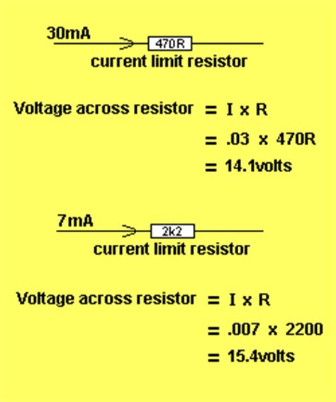 resistor current voltage calculator calculating current voltage drop across resistor 28 images lessons in electric circuits