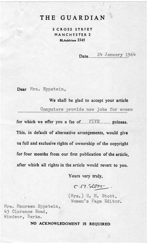 Acceptance Letter For Publication Journal