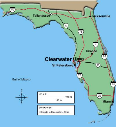 clearwater map of florida maps clearwater chamber of commerce