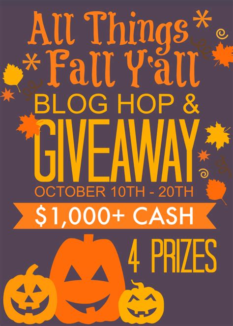 Blogs With Giveaways - all things fall y all blog hop giveaway anything everythinganything everything