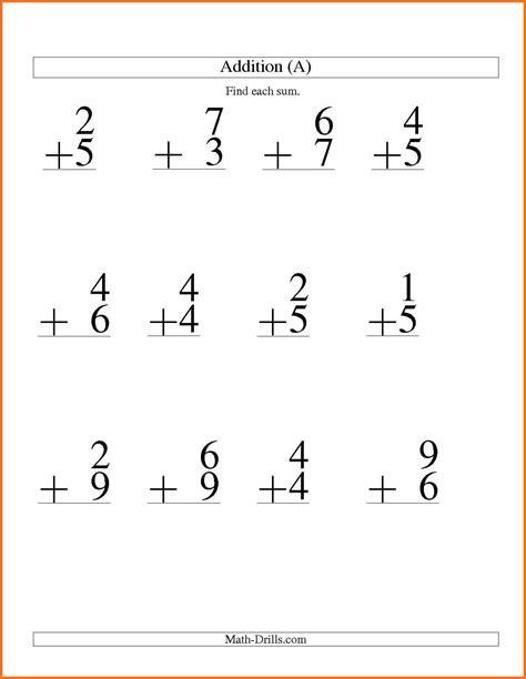 printable math worksheets addition addition math worksheets artresume sle addition best