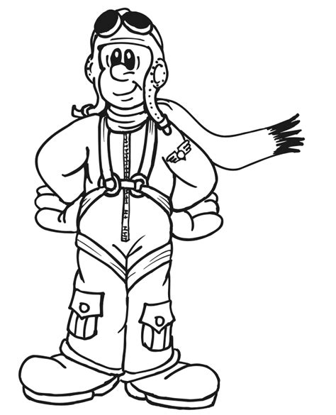 Coloring Pages Airplane Pilot | index of coloringpages airplane