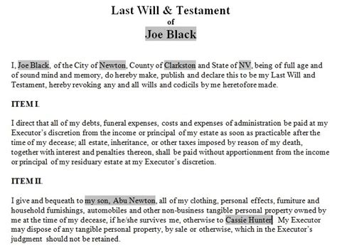 template of last will and testament best photos of last will and testament letter blank last