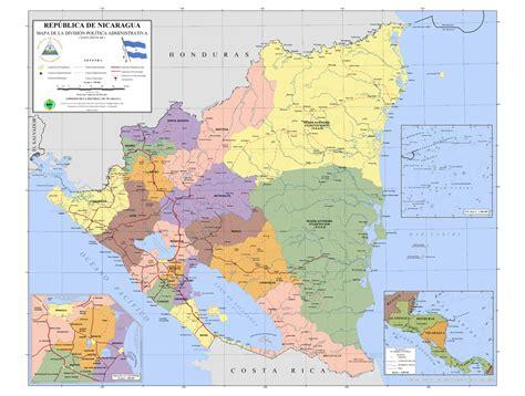 imagenes satelitales nicaragua mapa de nicaragua world of map