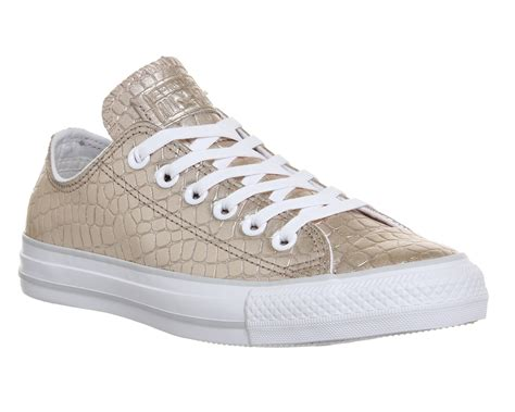 Converse Low Leather converse all low leather gold croc exclusive