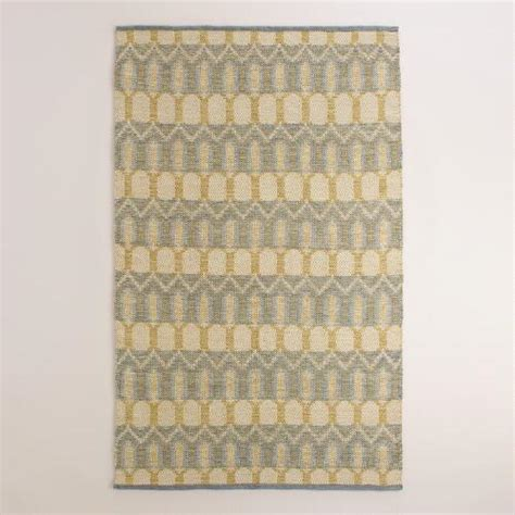 Yellow And Grey Outdoor Rug Yellow And Gray Geo Bethari Indoor Outdoor Rug World Market