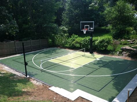 Tennis Court In Backyard by Backyard Basketball And Tennis Courts In Marblehead