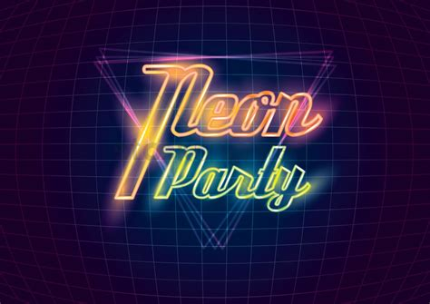 Modern Contemporary by Neon Party Design Vector Image 1962534 Stockunlimited