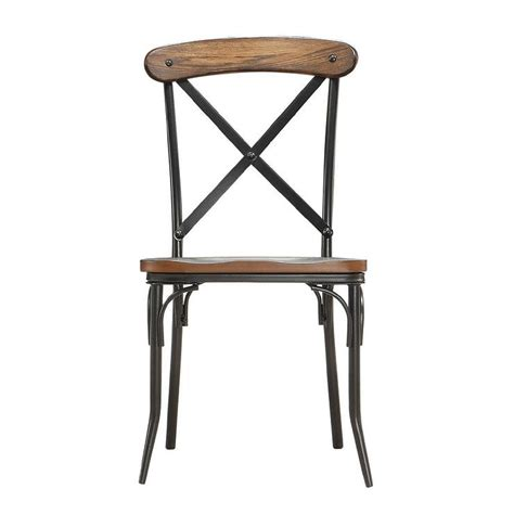 Rustic Wood Dining Chair Nelson Industrial Rustic Cross Back Dining Chair