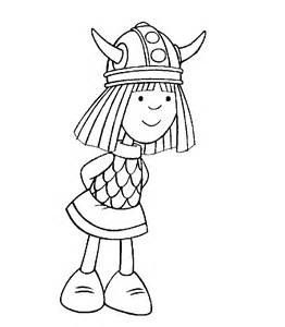 vicky the viking coloring pages for kids