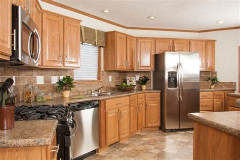 kitchen paint colors with oak cabinets and stainless steel appliances tl806a timberland ranch kitchen with oak cabinets and
