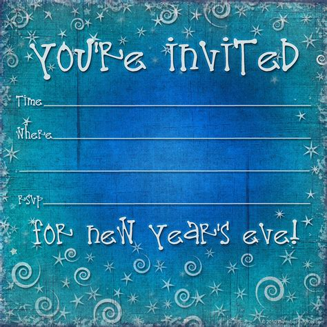 New Year Invitation Card Template Free by New Years Invitations Invitations Templates