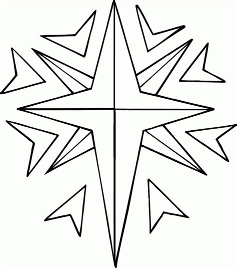 coloring page of the christmas star christmas star coloring page coloring home