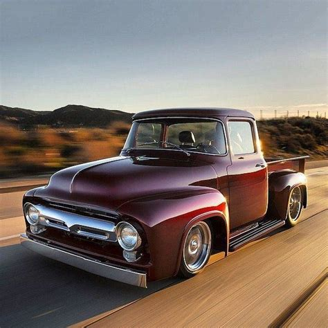 1956 ford grille 1956 ford f100 with a burgundy paint