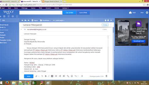contoh surat lamaran kerja via pos contoh z