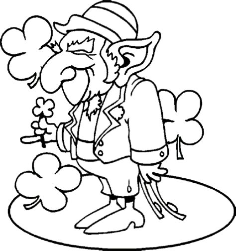 Free Coloring Pages Of Face Leprechaun Leprechaun Coloring Page