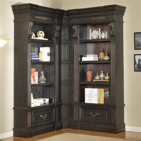 Parker House Palazzo 3 Piece Museum Corner Bookcase Wall Corner Wall Bookcase