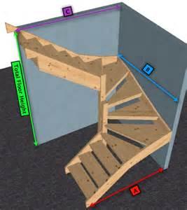 Return Stairs Design Pine Open Staircase Gt 6 Kite Winder Stair Ebay