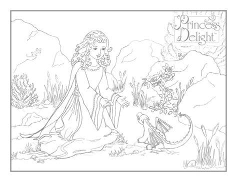 princess vivian coloring pages the princess and the baby dragon princess coloring pages
