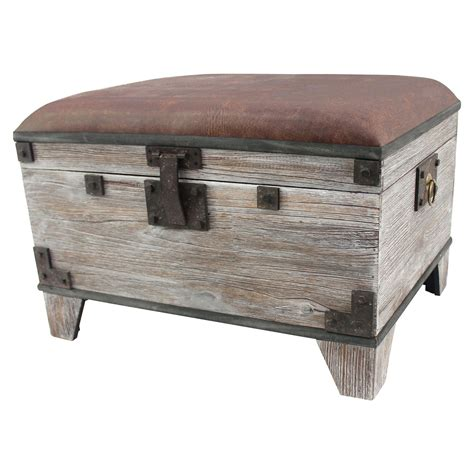wood ottoman wood storage ottoman dcg stores