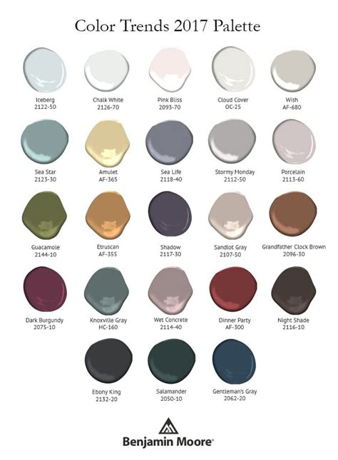 trending color palettes for 2017 2017 benjamin moore color of the year shadow 2117 30