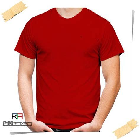 jual kaos polos lengan pendek warna merah cabe grosir