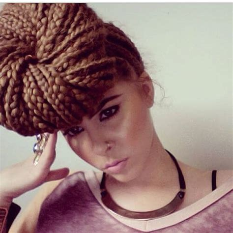 side bun for box braids 80 great box braids styles for every occasion