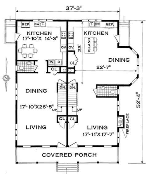all in the family house floor plan multi family plan 4285