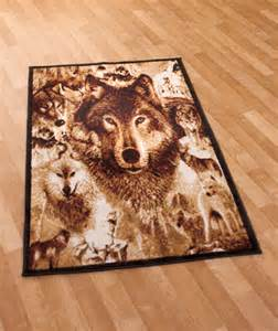Wolf Area Rug Pack Of Wolves Wolf 39 X 59 Floor Area Rug Covering Lodge Cabin Decor Ebay