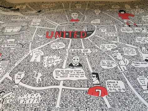 Manchester Doodle Map Prints By Dave Draws