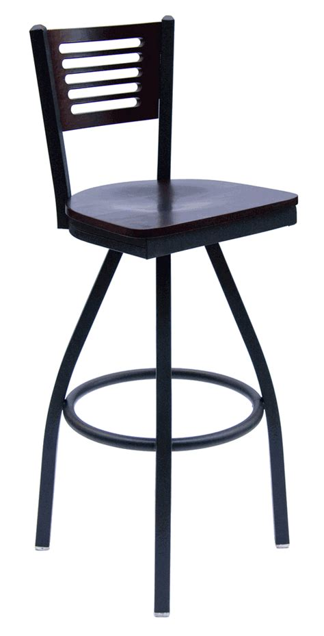 commercial swivel bar stools with back metal frame commercial swivel barstool w slotted wood