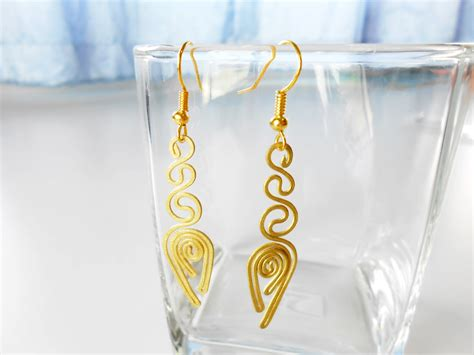 Handmade Jewelry Thailand - brass dangle earrings handcraft fashion designs handmade