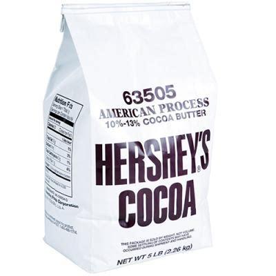 Hersheys 100 Cocoa Powder Unsweetened hershey s cocoa powder 5lb bag cacao non alkalized unsweetened