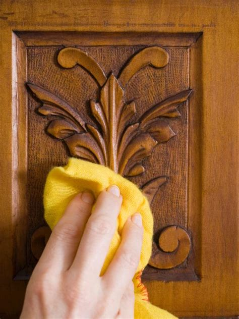 how to clean wood cabinets and them shine polishing wood furniture diy
