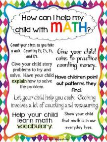 Parent Letter About Your Child Tips For Parents How To Help My Child Succeed In Math Math Teaching Resources
