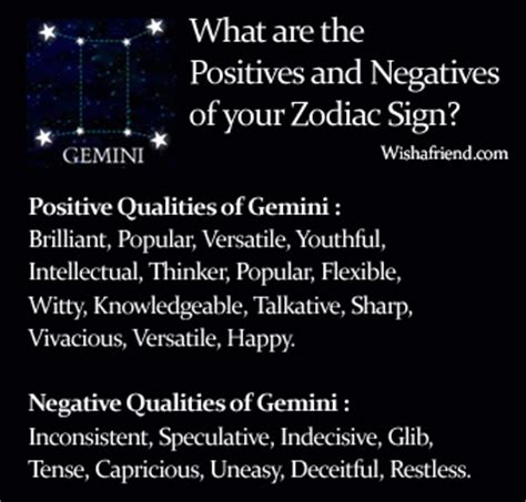 negative traits of gemini more negative traits gemini