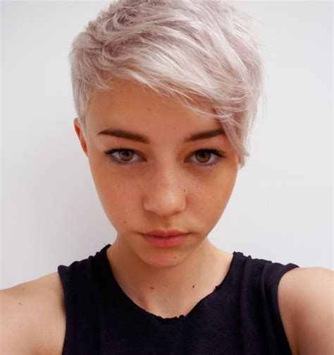 how to style super short blond hair super blonde short hair cool haircuts color pinterest