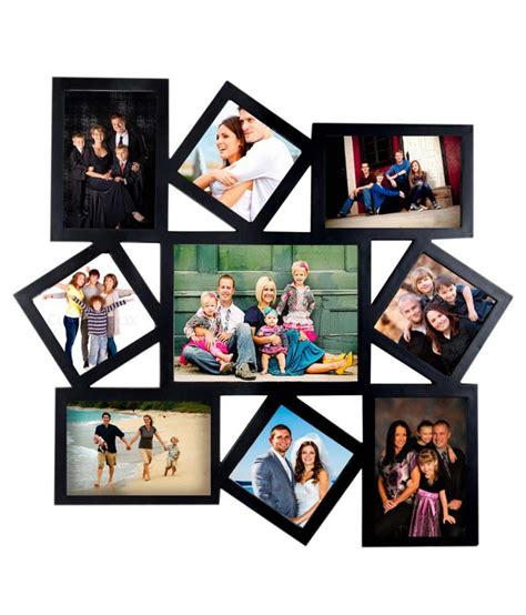Buy Home Decor Items Online India deep large 9 in 1 designer photo frame collage black buy