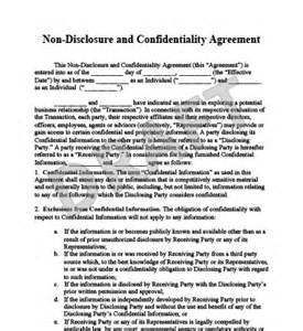 sle non disclosure agreement template cover letter for non disclosure agreement