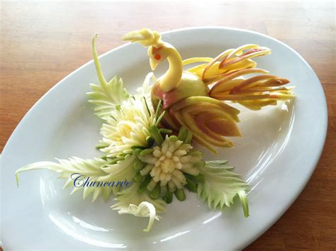new year 7 vegetables of fruit and vegetable carving part 28