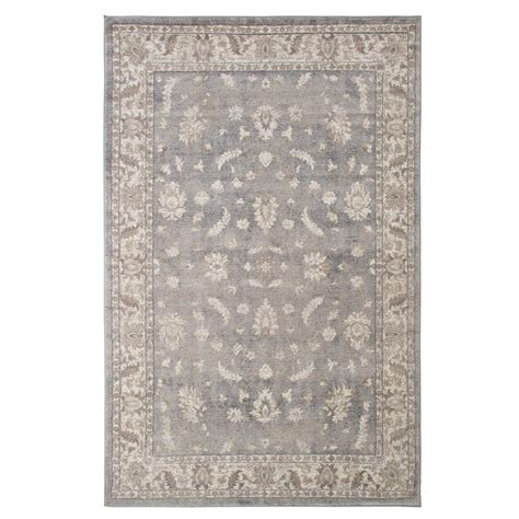 Grey Area Rugs Home Depot Lavish Home Vintage Mixed Floral Grey 8 Ft X 10 Ft Area Rug 62 7982 810lgdg The Home Depot