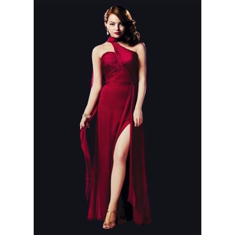 emma stone red dress emma stone red prom dress in movie gangster squad