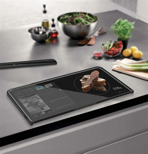 high tech cutting boards the smart chef is a kitchen pc digital cutting board yanko design