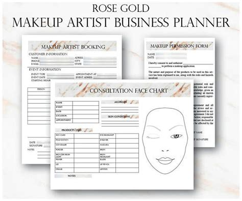 Makeup Artist Client Card Saubhaya Makeup Freelance Animation Contract Template